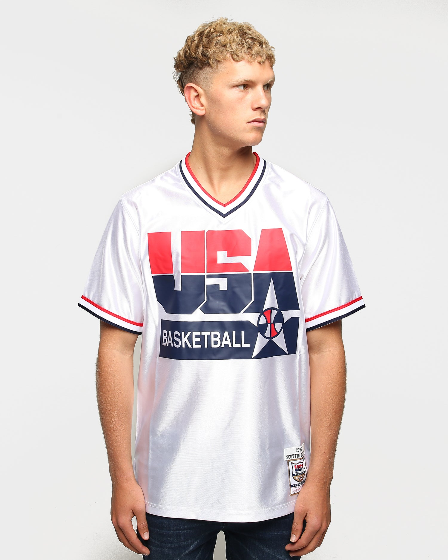 SCOTTIE PIPPEN TEAM USA JERSEY NEW WHITE ANY SIZE