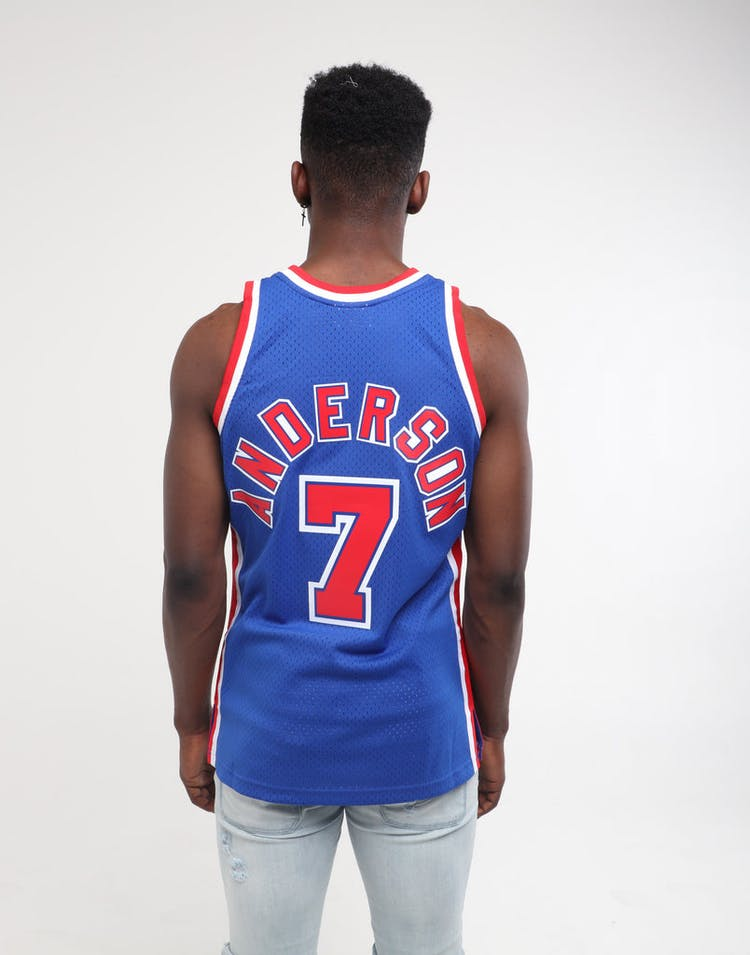 online retailer ac8e9 2a5ba Mitchell & Ness New Jersey Nets Kenny Anderson #7 Swingman Jersey Royal