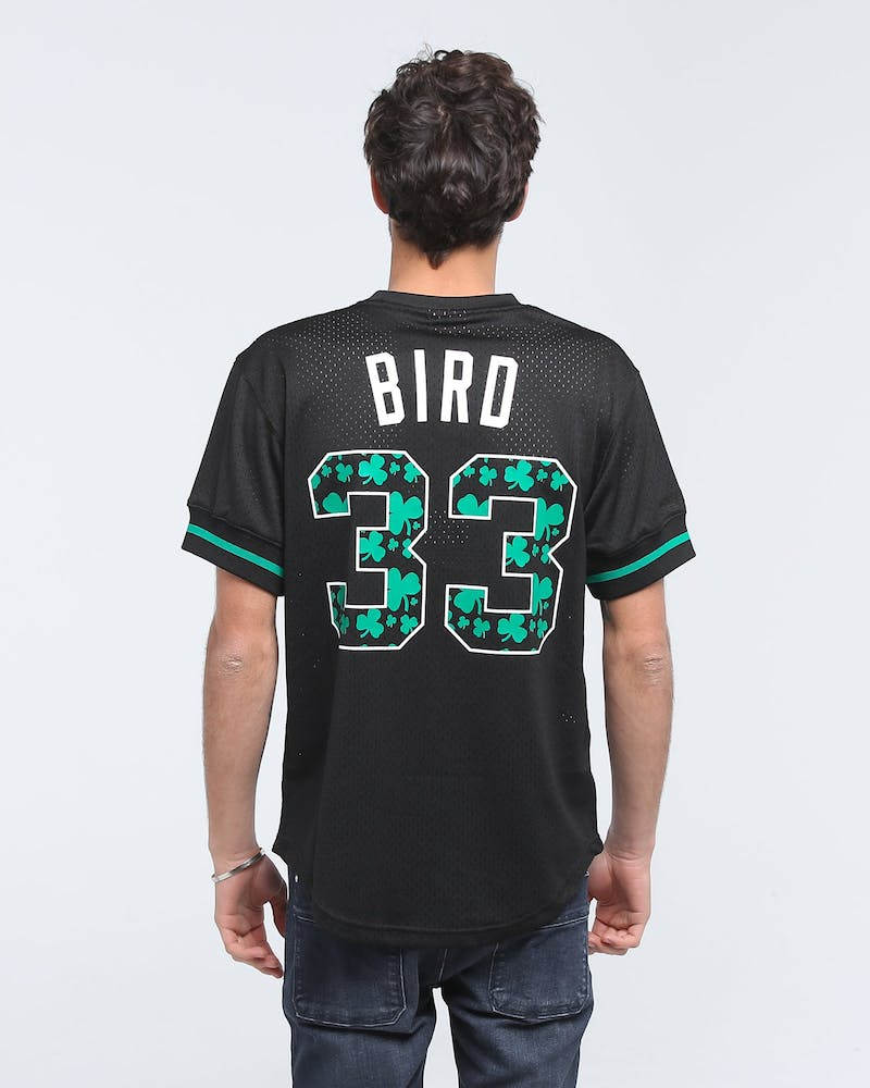 MITCHELL & NESS CELTIC '86 BIRD MESH CREW BLACK