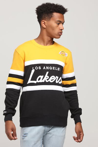 Mitchell & Ness Los Angeles Lakers Head Coach Crew Black/Yellow