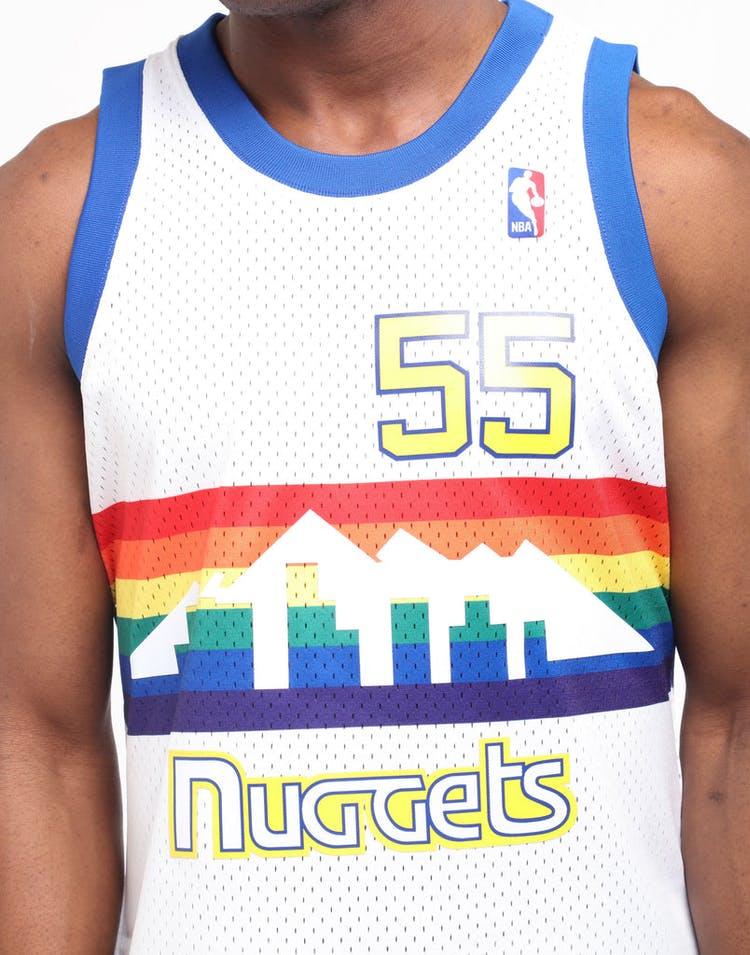 brand new eb4f4 9fe58 Mitchell & Ness Denver Nuggets Dikembe Mutombo #55 Swingman Jersey White