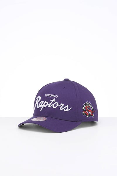 Mitchell & Ness Toronto Raptors Script Low Pro Snapback Purple