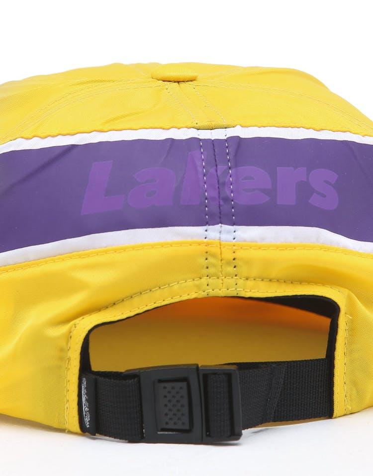 a93adbfe Mitchell & Ness Los Angeles Lakers NBA Nylon 6 Panel Snapback Yellow