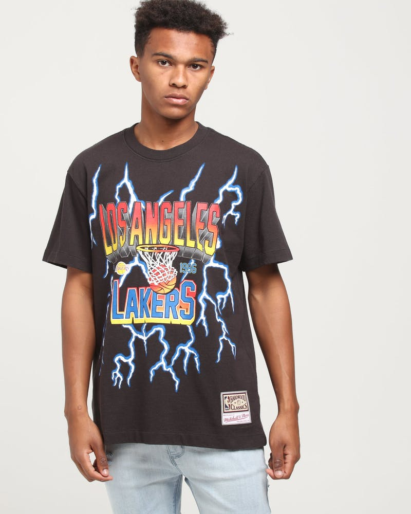 Mitchell & Ness Los Angeles Lakers Lightning Tee Black