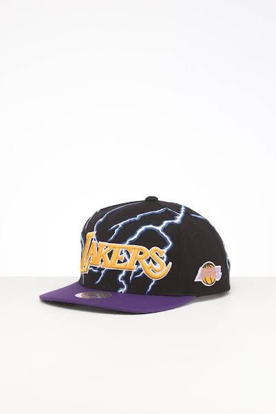 MITCHELL & NESS LA LAKERS LIGHTNING SNAPBACK BLACK
