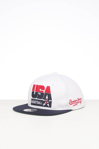 MITCHELL & NESS TEAM USA VINTAGE RETRO CROWN SNAPBACK WHITE/NAVY
