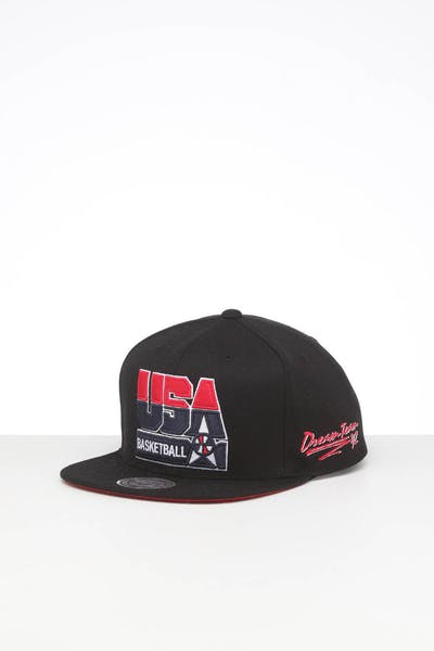 MITCHELL & NESS TEAM USA VINTAGE RETRO CROWN SNAPBACK BLACK