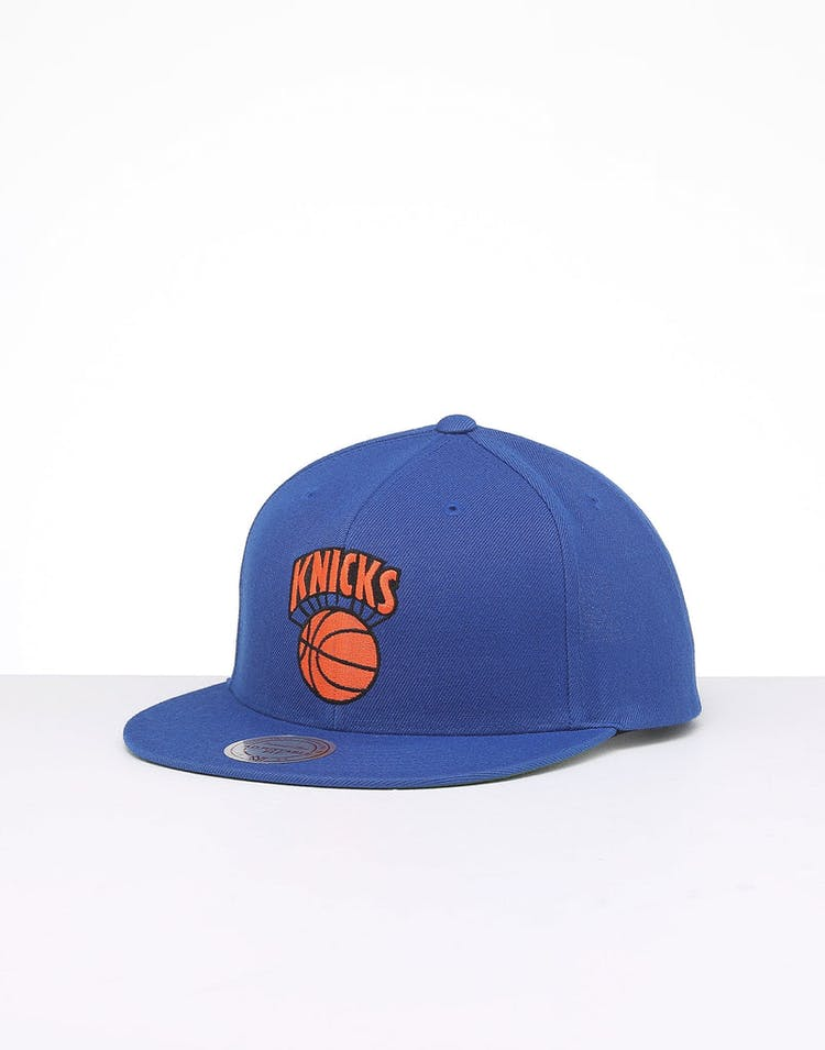 312e0e1d1 Mitchell & Ness New York Knicks Retro Crown Throwback Snapback Royal