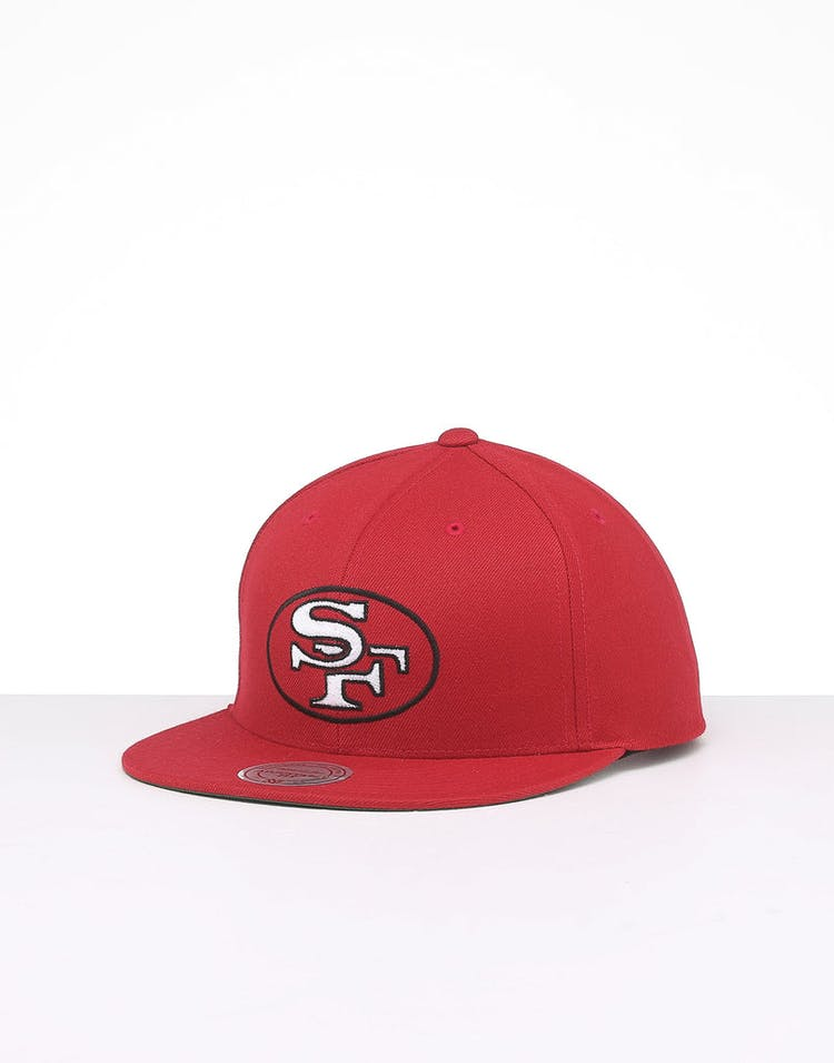 967a2a27 Mitchell & Ness San Francisco 49ers Retro Crown Throwback Snapback Red