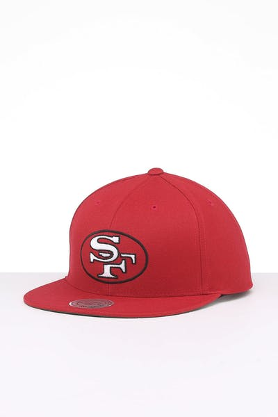 Mitchell & Ness San Francisco 49ers Retro Crown Throwback Snapback Red