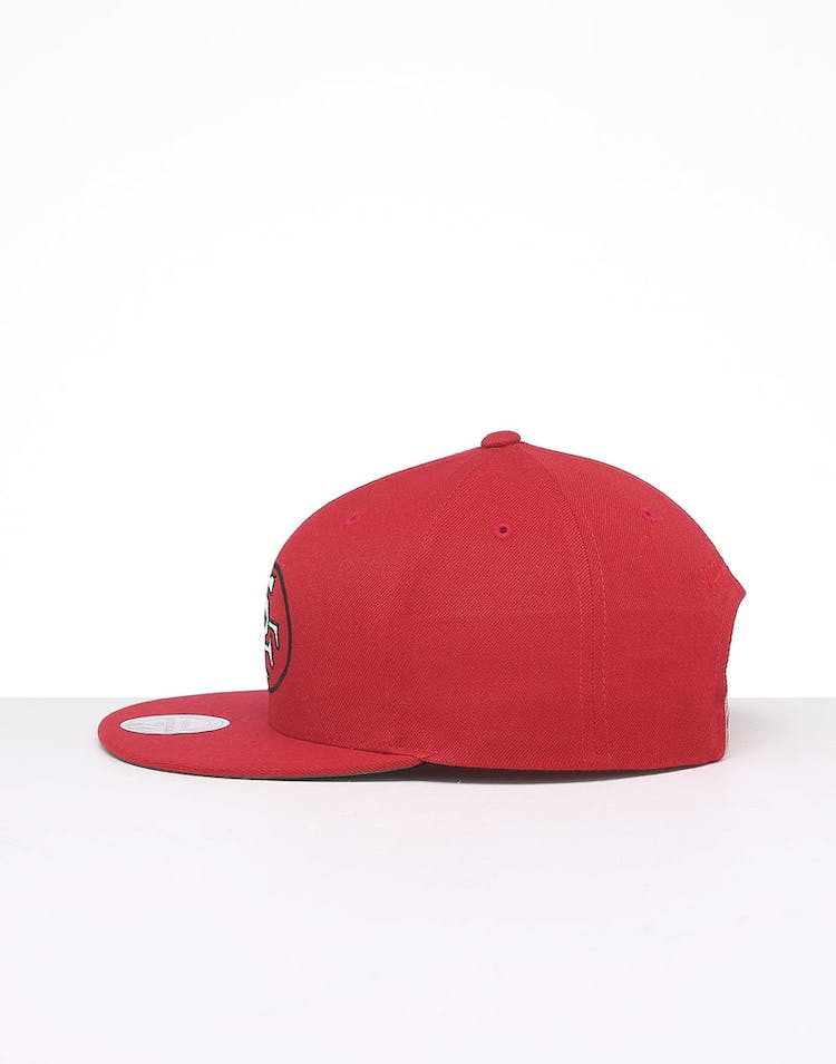 huge selection of 806cb d7a71 Mitchell & Ness San Francisco 49ers Retro Crown Throwback Snapback Red