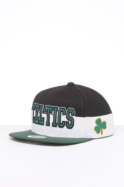 Mitchell & Ness Boston Celtics Block Pinch Panel Snapback Yellow/Green