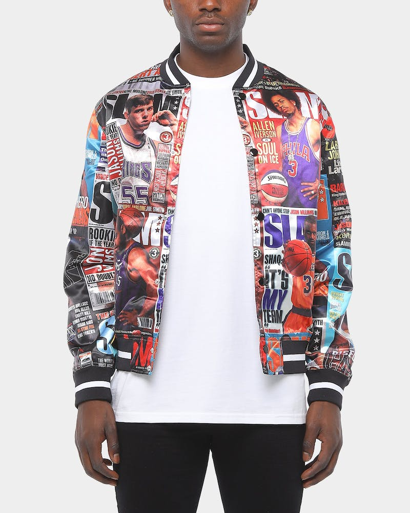 Mitchell & Ness Slam Light Satin Jacket Black/Multi-Coloured