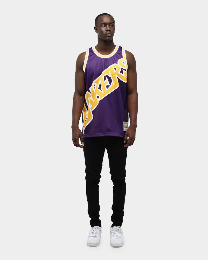 Mitchell & Ness Men's Los Angeles Lakers Big Face NBA Jersey Purple