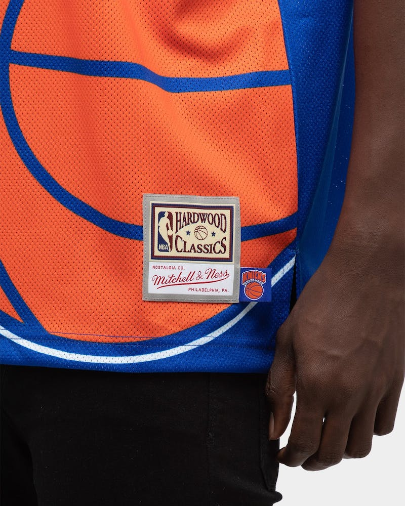 Mitchell & Ness Men's New York Knicks Big Face NBA Jersey Royal