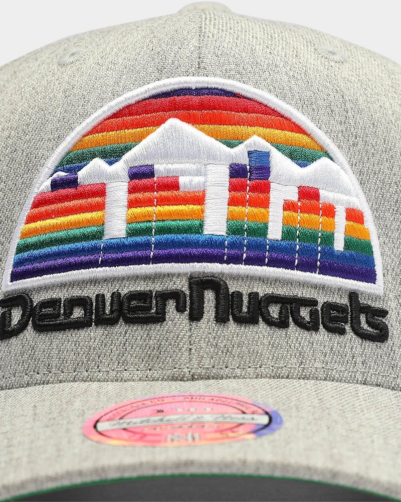 Mitchell & Ness Denver Nuggets Heather 110 Hardwood Classics Snapback Grey/OTC
