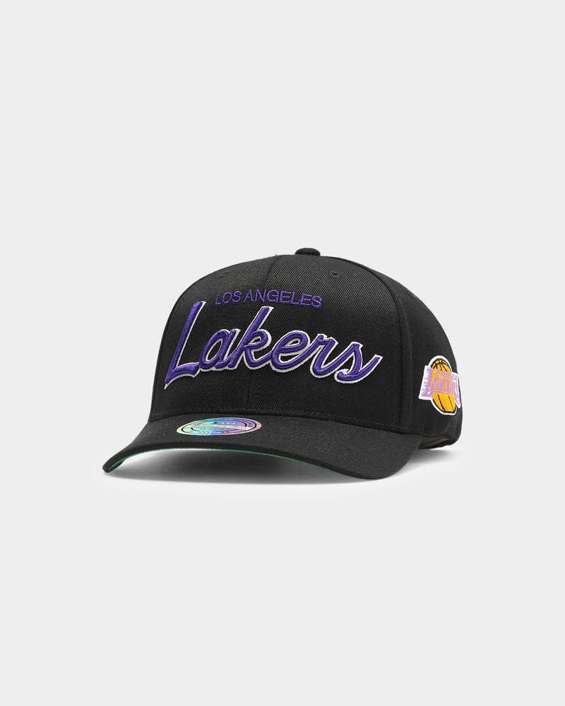 Mitchell & Ness Los Angeles Lakers Found Script 110 Snapback Black/OTC