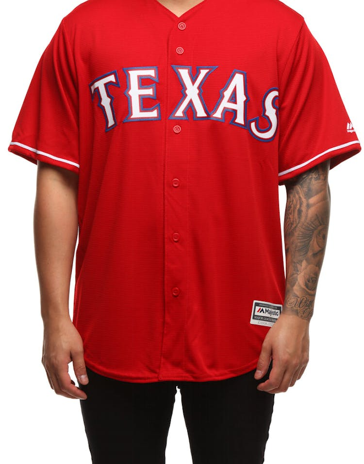feb2b05a6 Majestic Athletic Texas Rangers Cool Base Jersey Scarlet – Culture Kings