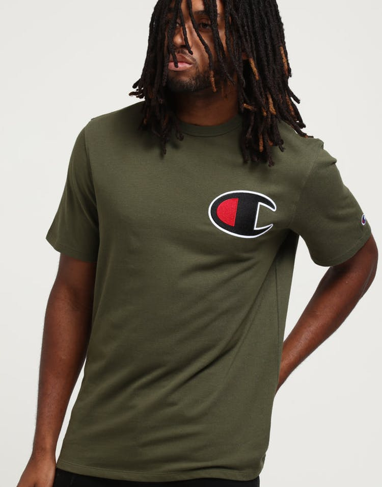 c05ac7038 Champion Heritage Tee Big C Forest Green – Culture Kings