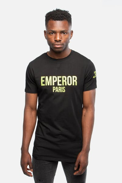 Emperor Apparel Block Logo T-Shirt Black/Neon