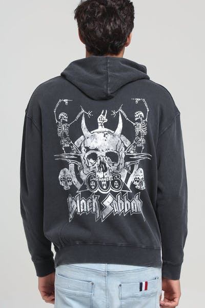 Black Sabbath Skeleton Vintage Hood Black