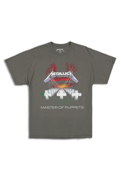 Metallica Master Of Puppets Vintage Tee Washed Charcoal