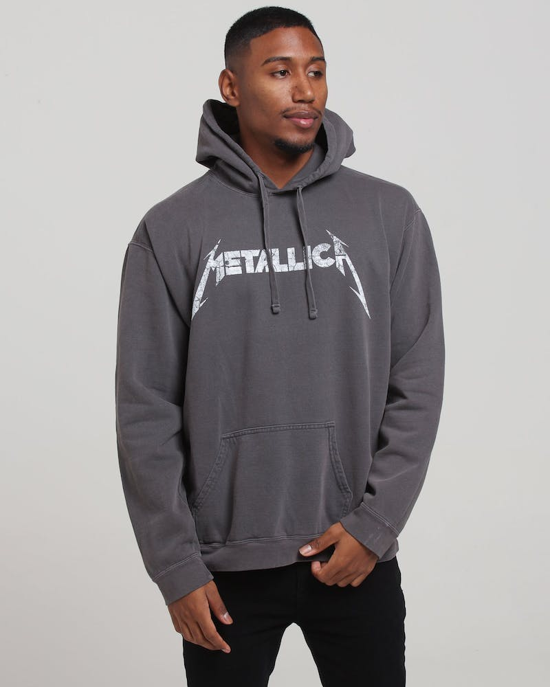 Metallica Kill Ride Vintage Po Hood Charcoal