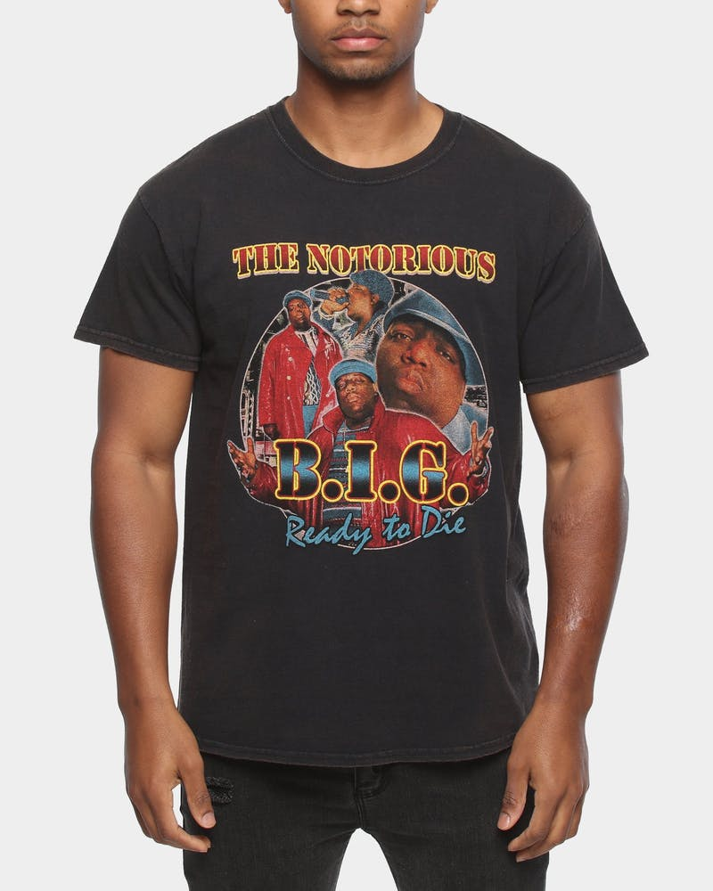 NOTORIOUS B.I.G BIGGIE COLLAGE TEE BLACK
