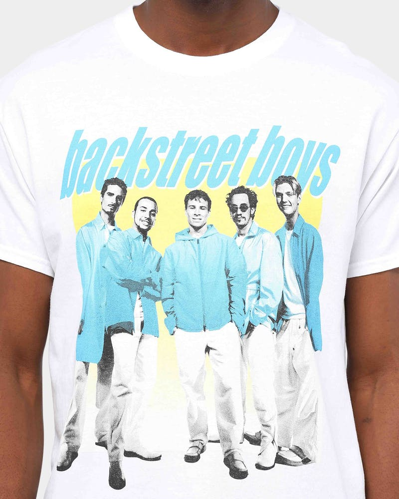 Backstreet Boys Band Photo Vintage Tee White