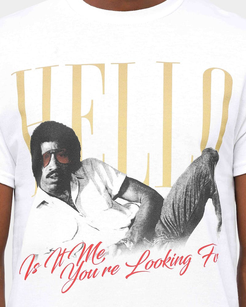 Lionel Richie Men's Hello Is It Me? Tee White