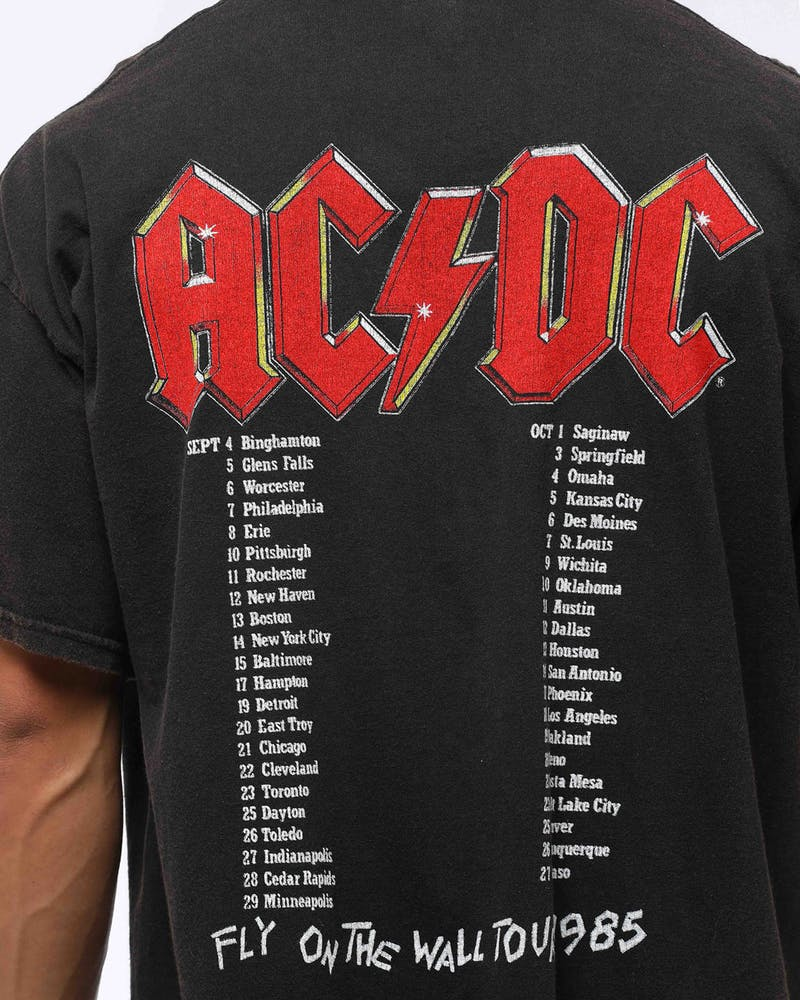 AC/DC Men's Logo Vintage Tee Black Wash