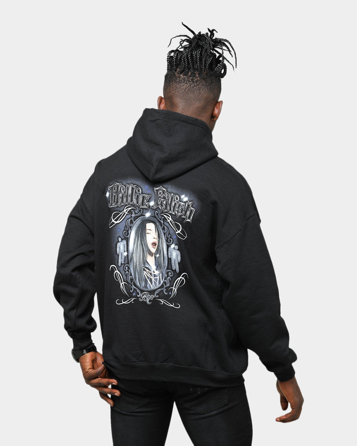 Billie Eilish Unisex Mirror Hoodie Black Culture Kings