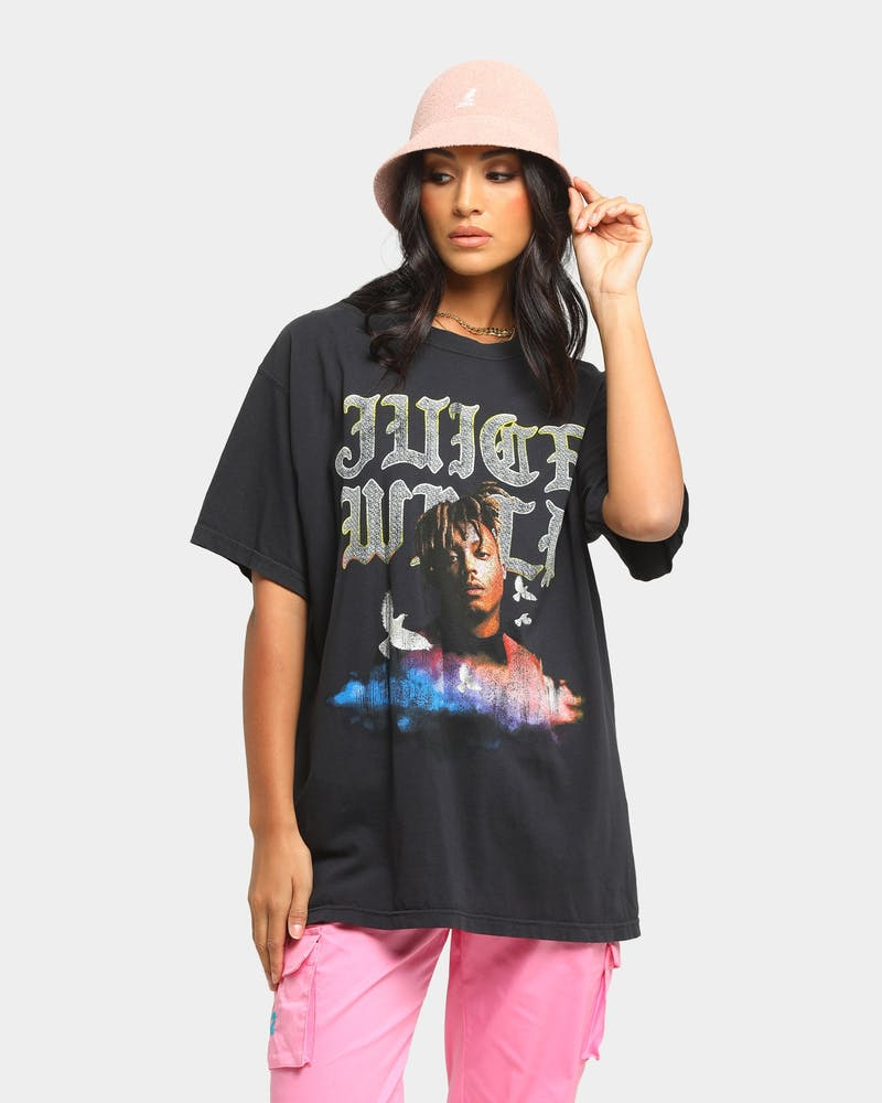 Juice Wrld Old English Vintage T-Shirt Black Wash