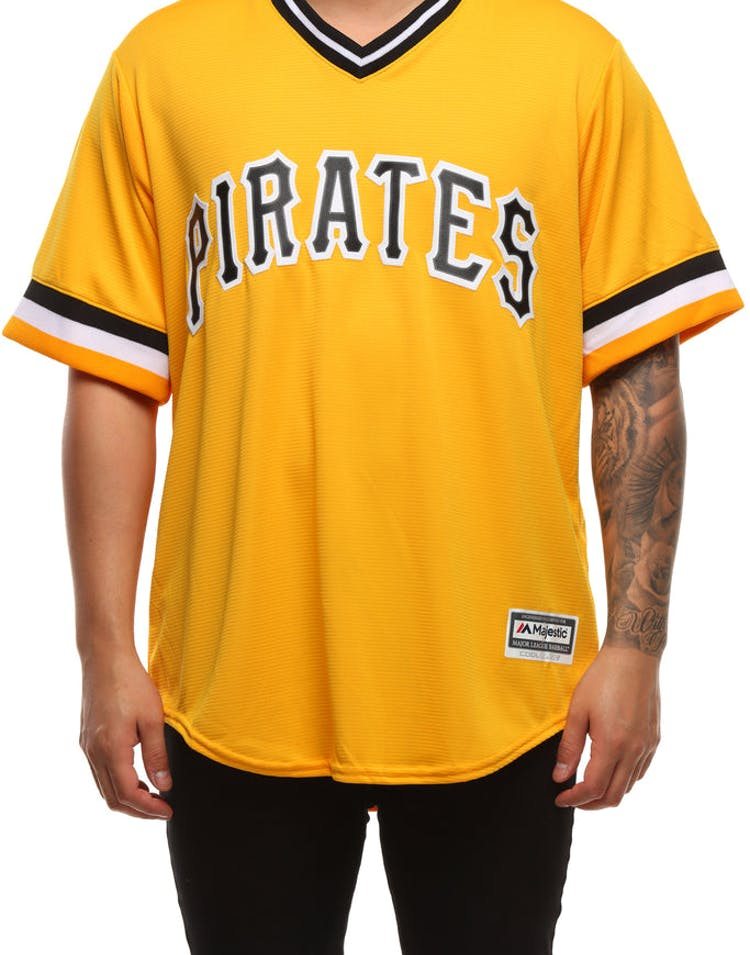 new style 427b6 de749 Majestic Athletic Pittsburgh Pirates Cool Base Jersey Yellow