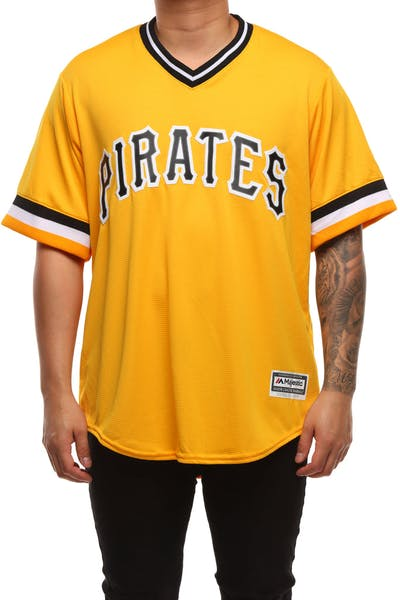 Majestic Athletic Pittsburgh Pirates Cool Base Jersey Yellow
