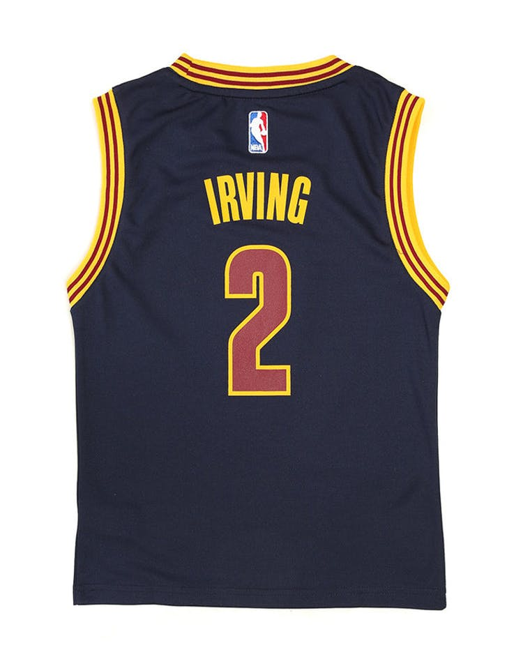 Adidas Cavaliers Replica Road Youth Jersey Irving 2 Navy