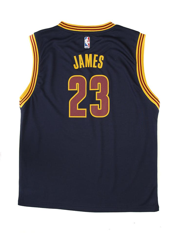 Adidas Cavaliers Replica Road Youth Jersey James 23 Navy