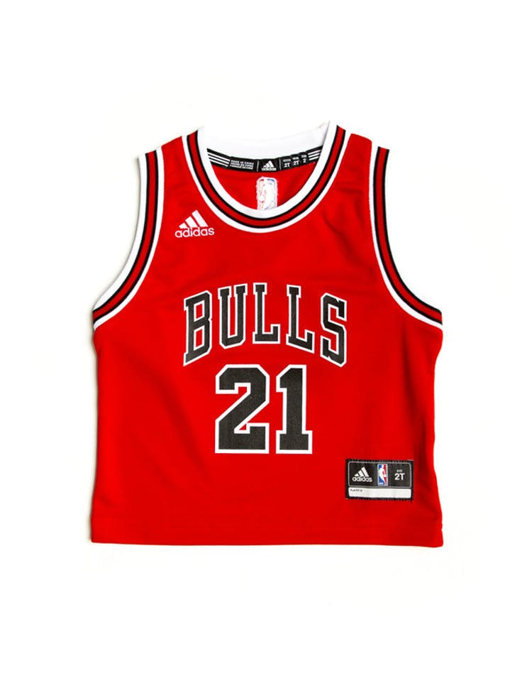 info for 8dfd0 aff70 Adidas Chicago Bulls Road Toddler Jersey Jimmy Butler #21 Red