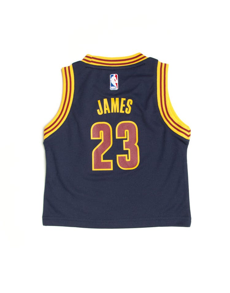 watch d5cd0 1b79a Adidas Cleveland Cavaliers Road Alternate Toddler Jersey LeBron James #23  Navy