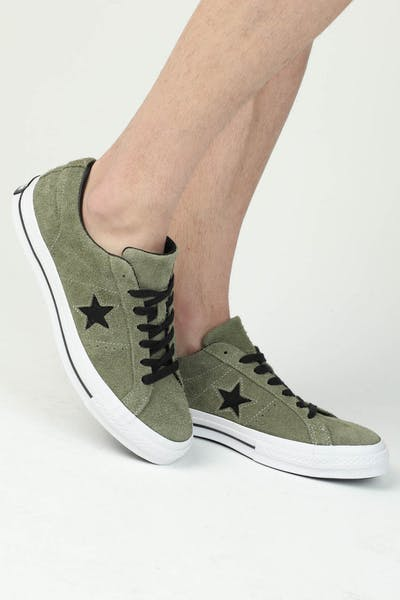 Converse One Star (Dark Star) Olive/White
