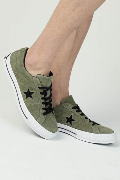 5be9feead29 Converse One Star (Dark Star) Olive White