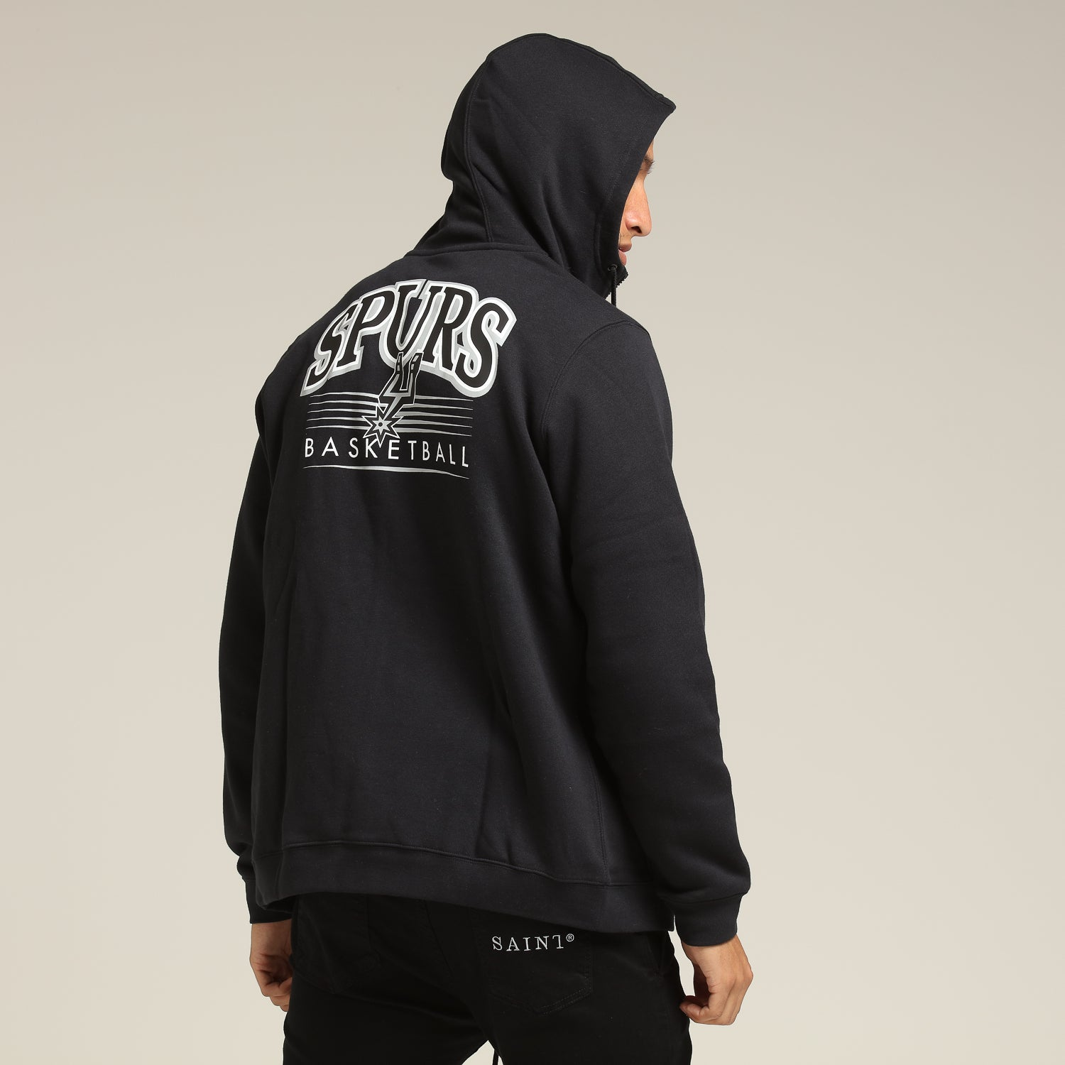 Details about Adidas NBA Men's San Antonio Spurs All Over Print Gothic Hoodie, Black