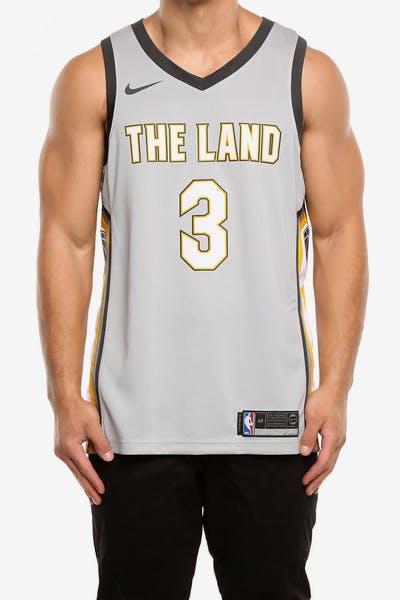 54266662cc6 Nike Cleveland Cavaliers  3 Isaiah Thomas City Edition Swingman Jersey  Silver