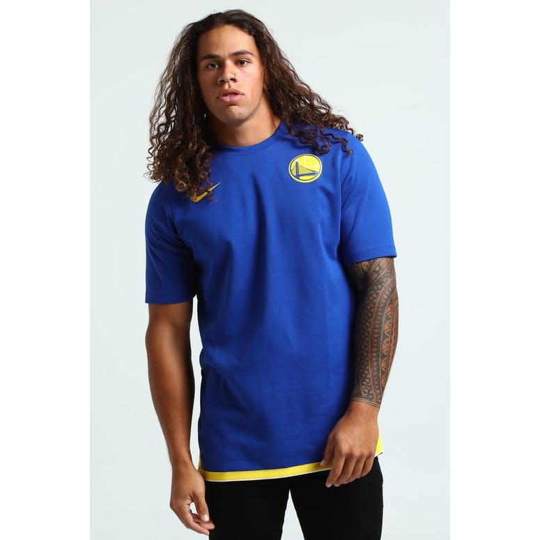 Nike Golden State Warriors DNA Essential SS Top Blue/Yellow
