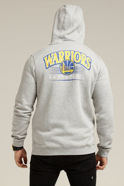 Nike Golden State Warriors Hoodie FZ Essential Spring Hood Heather Grey/Blue