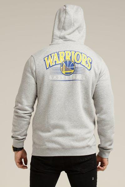 Nike Golden State Warriors Hoodie FZ Essential Spring Hood Heather Grey Blue d354a5985e7