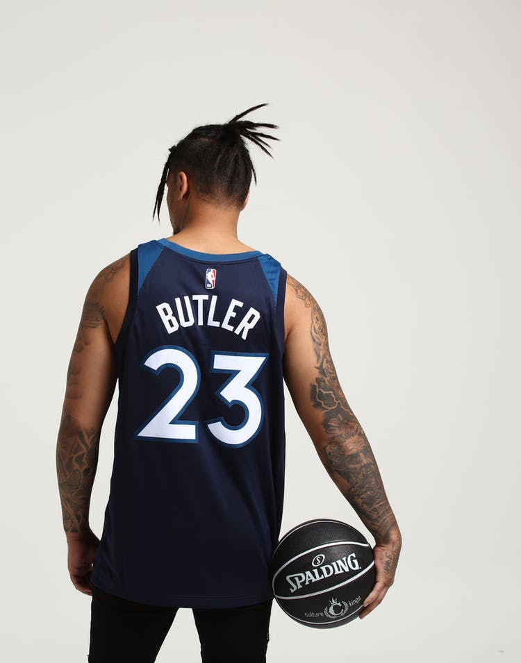 first rate 5447d 73652 Jimmy Butler #23 Minnesota Timberwolves Nike Icon Edition Swingman Jersey  Navy