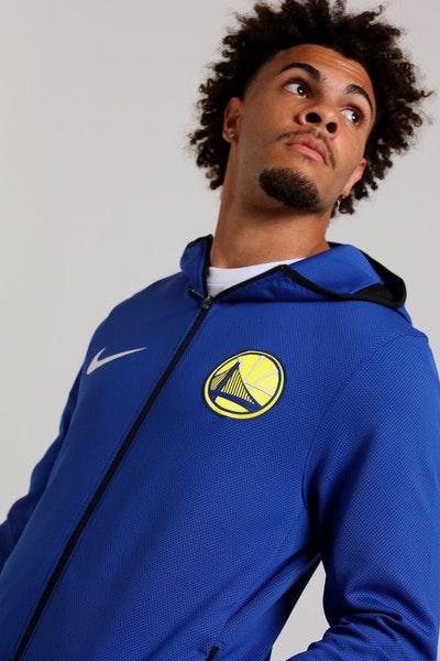 da47ce778205 Nike Golden State Warriors Therma Flex Showtime Blue Black White