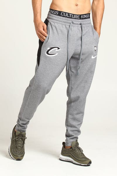 88cc45b27a02 Nike Cleveland Cavaliers Dry Showtime Pant Grey Heather White