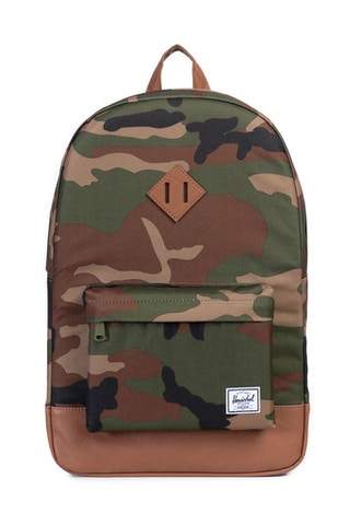 Heritage Leather Backpack Camo